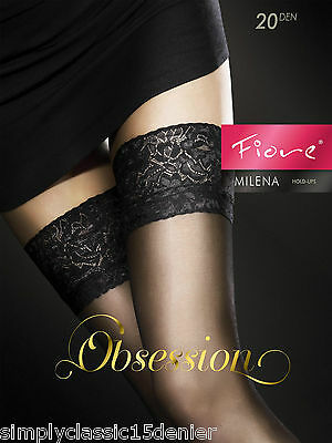 Fiore Milena Obsession Stockings Thigh High Hold Up Nylons Hosiery FREE SHIP