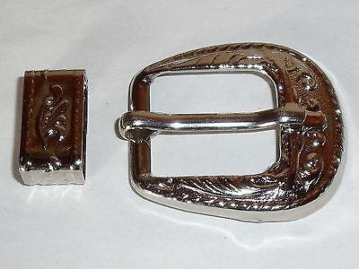 Gürtelschnalle Schließe Schnalle Verschluss  2,2 cm  silber  2-teilig  NEUWARE