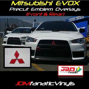 08 2015 Lancer Evox Evo Emblem Front Amp Rear Overlays Decal