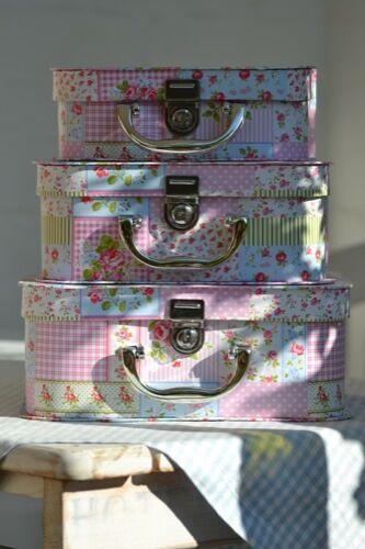 Pappkoffer Kinderkoffer * Rose Rosa * Pappe Köfferchen Koffer Spielkoffer * NEU!