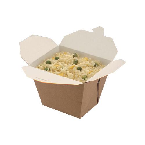 10 X Oriental Square Food Box Kraft 26oz Takeaway Noodles Curries Rice