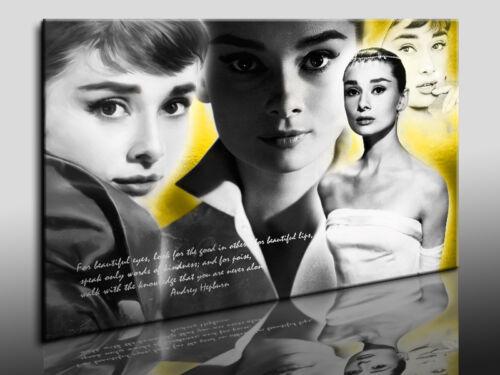 Kunstdruck Bild Poster Fotoleinwand24 Audrey Hepburn  Leinwandbild  Wandbild