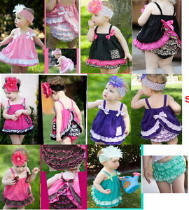 Free-Shipping-Girl-Baby-Ruffle-Top-Pants-Headband-Set-0-3Y-Bloomers-Nappy-Cover