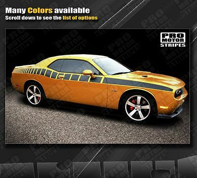 RED Dodge Challenger Side Strobe Racing Stripes 2011 2012 2013 2014 Decals Graph