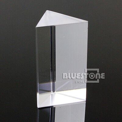 New Crystal 5cm Optical Glass Triangular Prism Physics Educate Teaching Rainbow