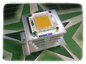 SET-100W-Watt-LED-Chip-warmweiss-Alu-Kuehlkoerper-Fluter-Flutlicht-Aquarium
