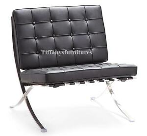 3000 classic mid century design barcelona style leather chair 8 colors avail ebay. Black Bedroom Furniture Sets. Home Design Ideas