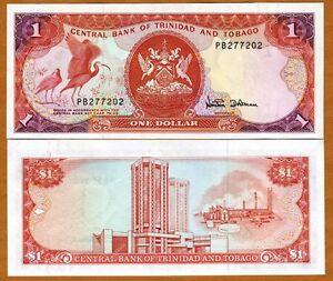 Trinidad-and-Tobago-1-dollar-1985-Pick-36-36d-UNC