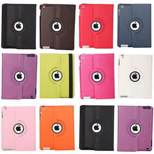 360-Rotating-Magnetic-Leather-Case-Smart-Cover-for-iPad3-2-Choose-from-10-Color