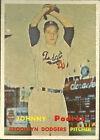 1957 Topps Johnny Podres Brooklyn Dodgers #277 Baseball Card