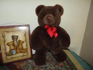 Gund TENDER TEDDY Bear 1993 Chocolate Brown 18 inch GORGEOUS !