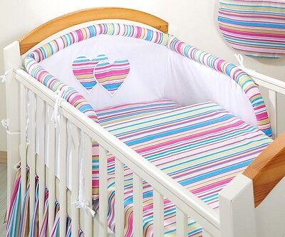 3 Piece/Pc BABY BEDDING SET COT BED DUVET PILLOW CASE COVER 120x90 135x100 HEART