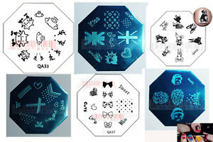 Nail-Art-Stamp-Stamping-Image-Template-Plate-QA-Series-4-NEW-QA33-QA48