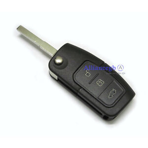 Flip-Remote-Key-Case-Shell-For-FORD-C-S-MAX-Focus-Galaxy-Kuga-Mondeo-3-Button