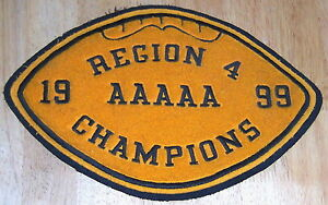 Region 4 AAAAA Football Champions Patch; 1999