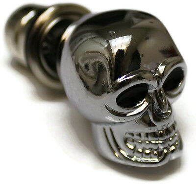 Chrome Skull Cigarette Lighter Plug Cover Universal Replacement Pirate Treasure