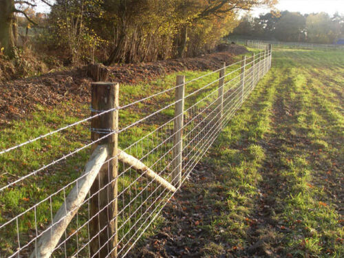 Cattle 50m of C8//80//15 Uniwire Standard Stock Fence for Sheep Pigs UK Made