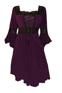 renaissance gothic victorian peasant plum purple corset