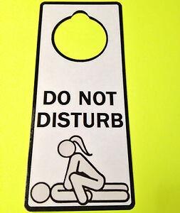 Sex do not disturb
