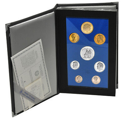 GREECE OFFICIAL SET 1993 PROOF 7 VALUES + 500 DRX SILVER !!!!!!!