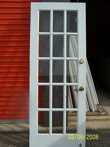 Antique 15 pane glass exterior door approx 30 x 80 ebay for 15 panel glass exterior door