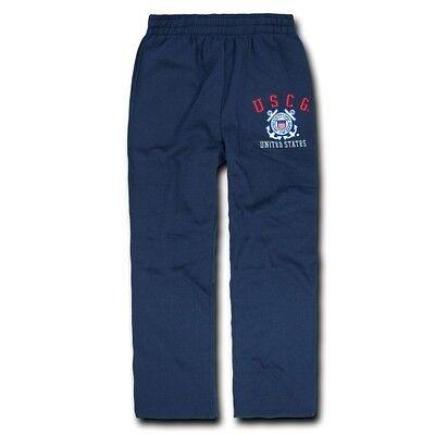 US Coast Guard USCG Military Army Fleece Sweat Lounge Sport Pants S M L XL 2XL