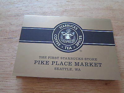 Starbucks USA Pike Place Card Serial 6075 VHTF ! WITH SLEEVES