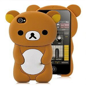 Ipod-Touch-4-8G-16G-32G-4TH-Generation-GEL-SKIN-CASE-Cover-BROWN-BEAR-RILAKKUMA