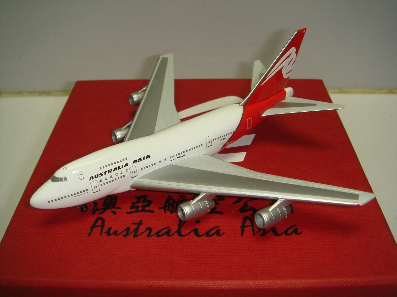 Herpa Wings Australia Asia Airlines B747-SP  ciudad de oro Coast Tweed  1 500