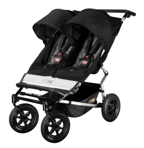 Mountain Buggy Duet Black/flint Jogger Stroller - Boxed Sealed New