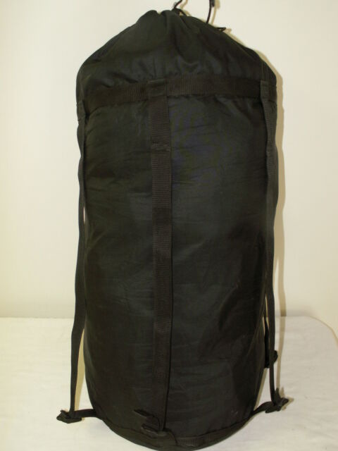 SLEEPING BAG COMPRESSION STUFF SACK - Black - 6 Strap GENUINE US Military Issue