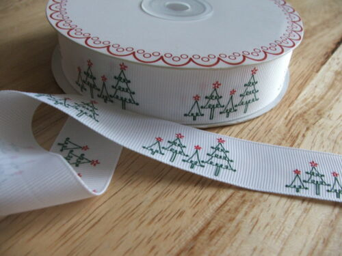 25mm Printed grosgrain ribbon for sewing /& crafts  2m units ~ christrmas print