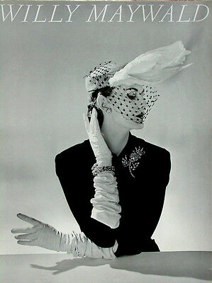 Willy Maywald Photo 22x32 Print CHAPEAU FATH Paris 1951 Haute Couture Poster