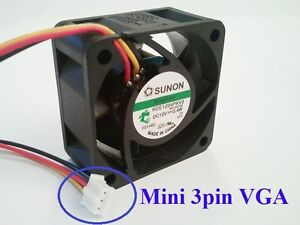 40mm-VGA-cooling-fan-Sunon-MagLev-KDE1204PKV3-Mini-3pin-6-3cfm-only-18dBA