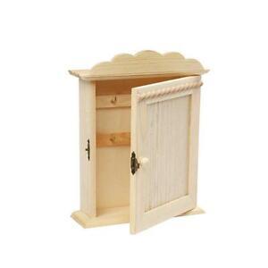 Image Is Loading Small 23cm Wooden Craft Key Cabinet Storage Shelf