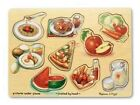 Melissa and Doug Wooden Food Peg Puzzle