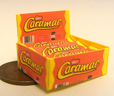A Display Box Of Caramac Chocolate Bar Packets Dolls House Miniature Sweet Shop