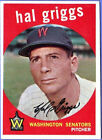 1959 Topps Hal Griggs Washington Senators #434 Baseball Card