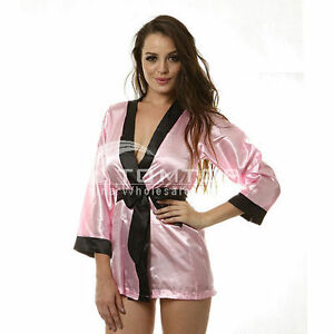 Sexy-Pink-Sleepwear-Women-039-s-Epigamic-Summer-Wear-Bath-Robe-Gown-H2200