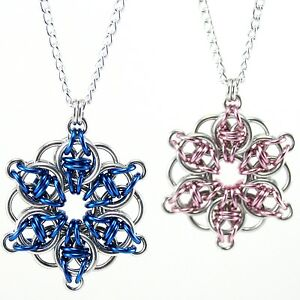 Celtic star flower chainmaille necklace chainmail pendant for image is loading celtic star flower chainmaille necklace chainmail pendant for mozeypictures Image collections