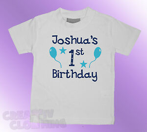Baby-Toddler-T-Shirt-BOYS-Its-name-1st-2nd-3rd-birthday-PERSONALISED