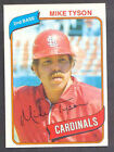 1980 Topps Mike Tyson #486 Baseball Card