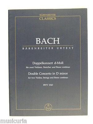 mini pocket score BACH double concerto in D min , bwv 1043