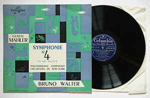 MAHLER-Symphony-n-4-BRUNO-WALTER-DESI-HALBAN-33-FCX-198-French-LP