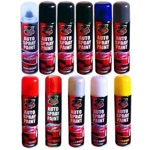 Auto-Car-Lacquer-Gloss-Matt-Primer-Spray-Paint-Aerosol-Black-Red-White-Value-etc