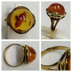 Anillo-333-Oro-de-con-ambar-Joya-Joyeria-piedra