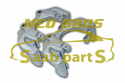 SAAB 900 9-3 9-5 PAIR FRONT 308MM BRAKE CALIPER CARRIERS, UPGRADE KIT, NEW