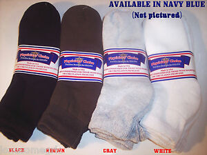 FREE-SHIP-6-Pairs-Mens-Physicians-Choice-Diabetic-Ankle-Socks-10-13-US-Made