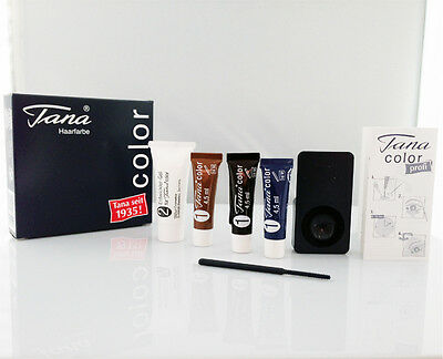 TANA COLOR ORIGINAL EYELASH & EYEBROW TINT DYE COMPLETE KIT BLACK BROWN BLUE-BLK
