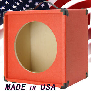1x12 Guitar Speaker Extension Cabinet Empty Fire Hot Red